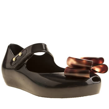 Melissa Black Ugirl Mini Bow Girls Toddler