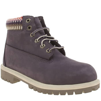 Timberland Purple 6 Inch Premium Girls Junior