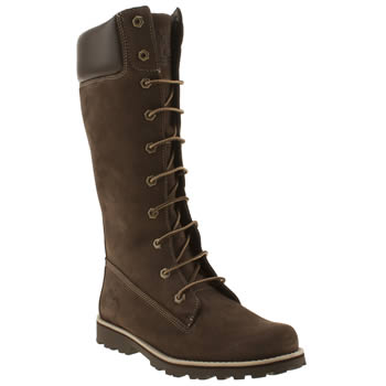 Girls Timberland Dark Brown Asphalt Trail Tall Girls Junior