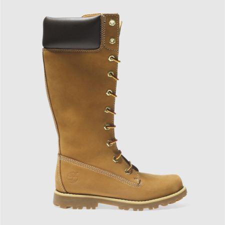 Timberland Asphalt Trail Tall Juniors Boots - Tan - Girls | schuh