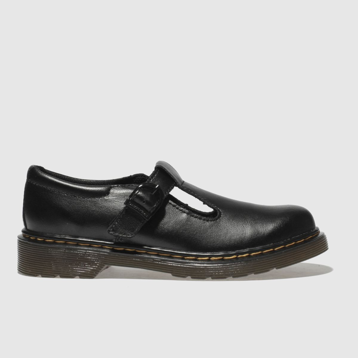 Dr Martens Black Dm Polley Boys Junior Shoes