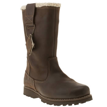 Girls Timberland Dark Brown 8in Pull On Girls Junior