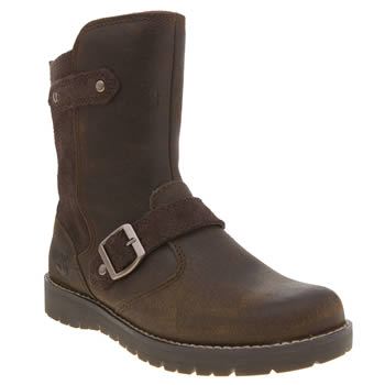 Timberland Dark Brown Kidder Hill Mid Girls Junior