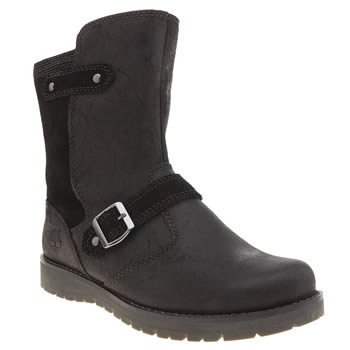 Timberland Black Kidder Hill Mid Girls Junior