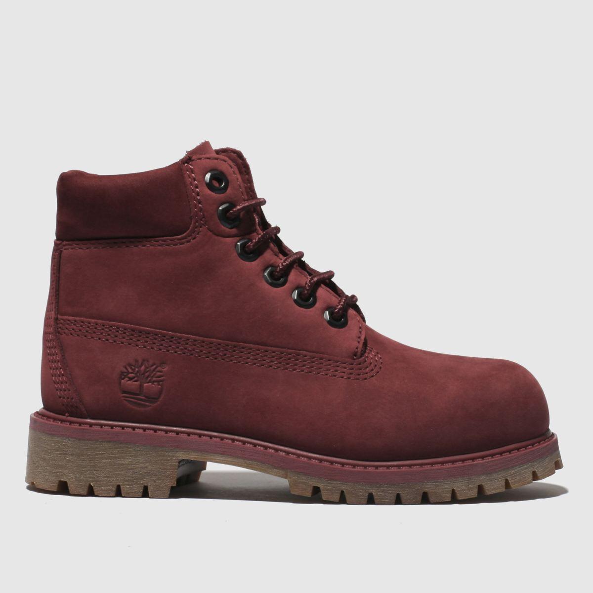 Timberland Burgundyin Premium Boots Junior