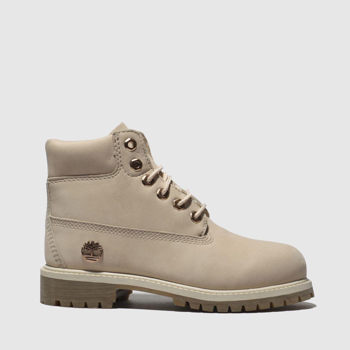 Timberland Pale Pink 6 Inch Premium Boots Junior