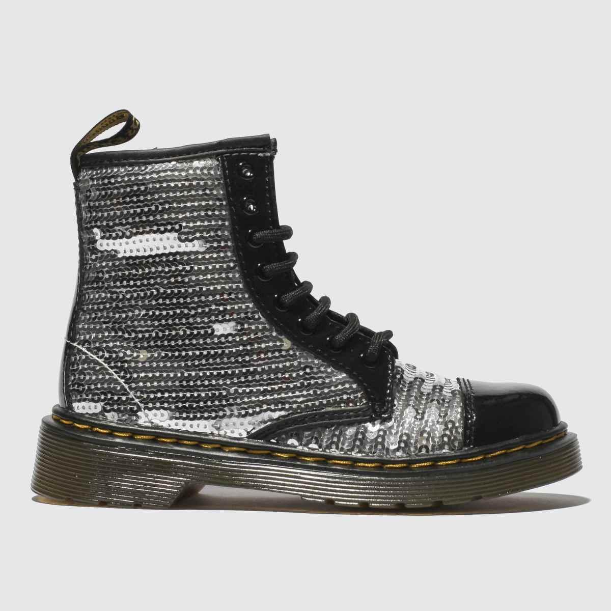Dr Martens Silver 1460 Pooch Sequin Boots Junior