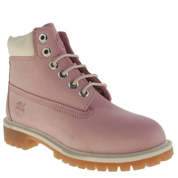 Girls Timberland Pink 6 Inch Premium Girls Junior