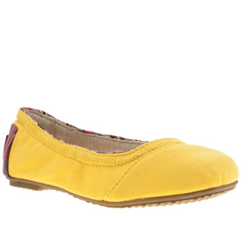 Girls Toms Yellow Ballet Flat Girls Junior