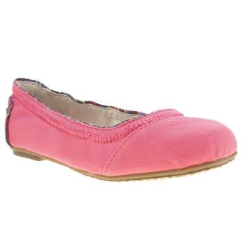 Toms Pink Ballet Flat Girls Junior