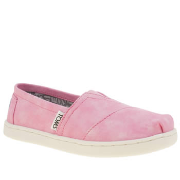 Girls Toms Pink Seasonal Classic Girls Junior