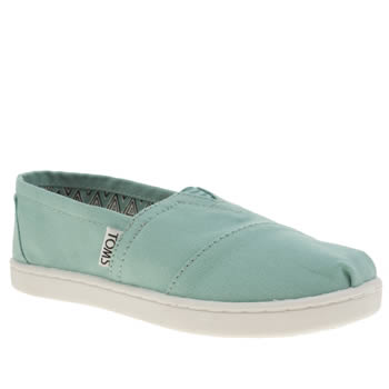 Girls Toms Turquoise Seasonal Classic Girls Junior