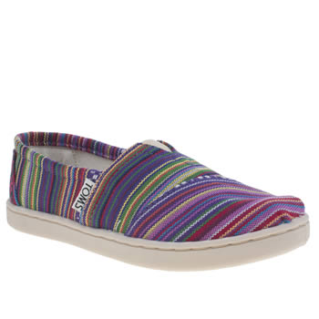 Girls Toms Multi Seasonal Classic Girls Junior