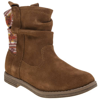 TOMS BROWN LAUREL GIRLS JUNIOR BOOTS