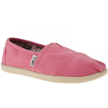 Girls Toms Pink Classic Girls Junior