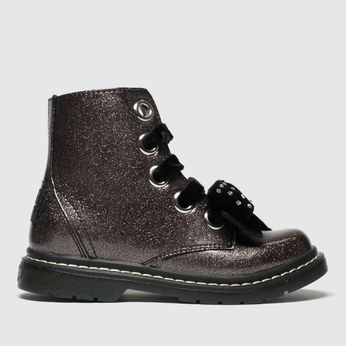 Lelli Kelly Lelli Kelly Dark Grey Fior Di Fiocco Boots Junior