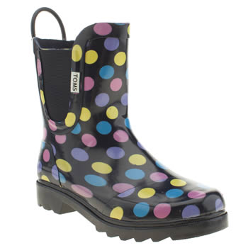Girls Toms Multi Rain Boot Girls Junior
