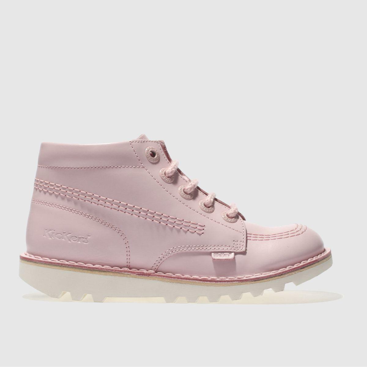 Kickers Pale Pink Kick Hi Girls Junior Boots