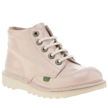 Girls Kickers Pale Pink Hi Core Girls Junior