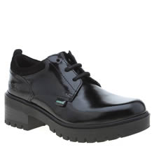 Kickers Black Kickmando Lace Girls Junior