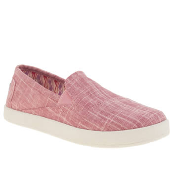 Girls Toms Pink Avalon Slip-on Girls Junior