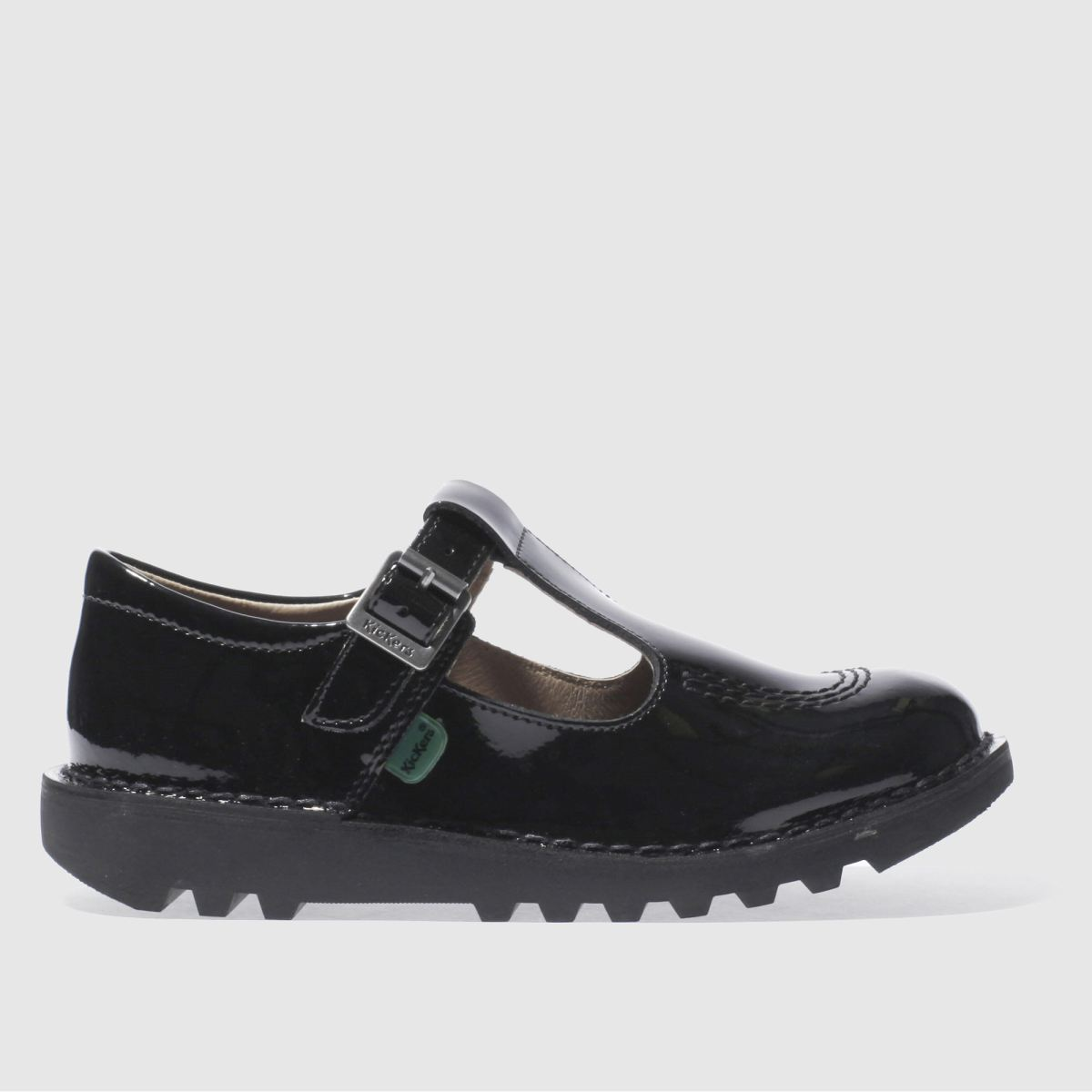 kickers black kick t-bar Girls Junior Shoes