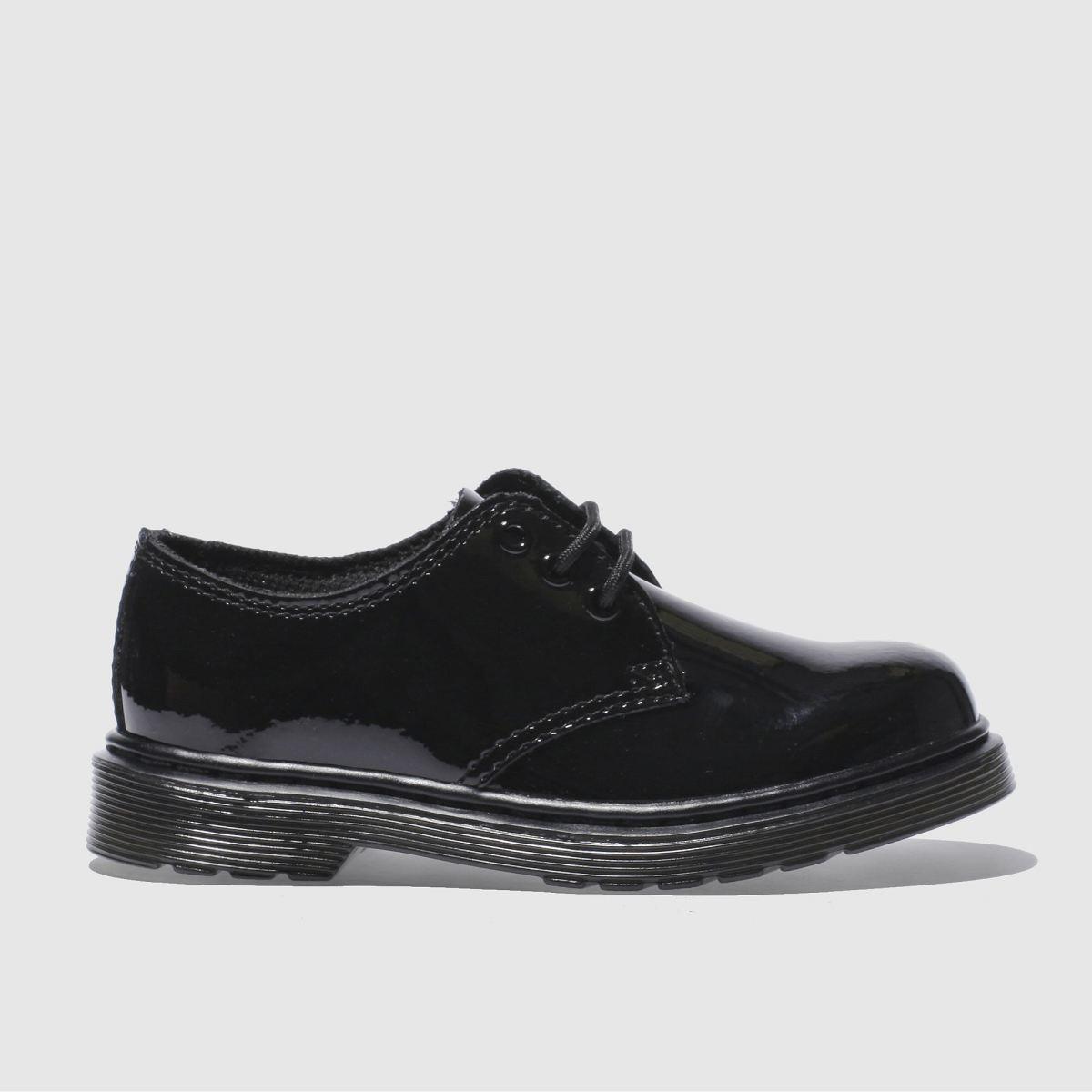 dr martens black everley Girls Junior Shoes