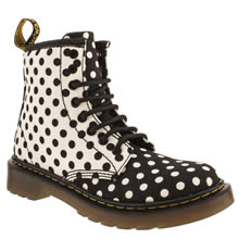 Junior White & Black Dr Martens Delaney Boot