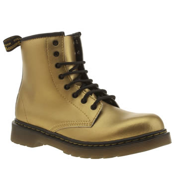 Girls Dr Martens Gold Delaney Lace Girls Junior