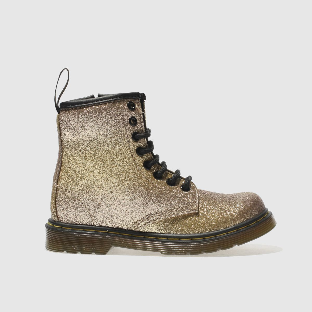 dr martens gold delaney glitter boot Girls Junior Boots