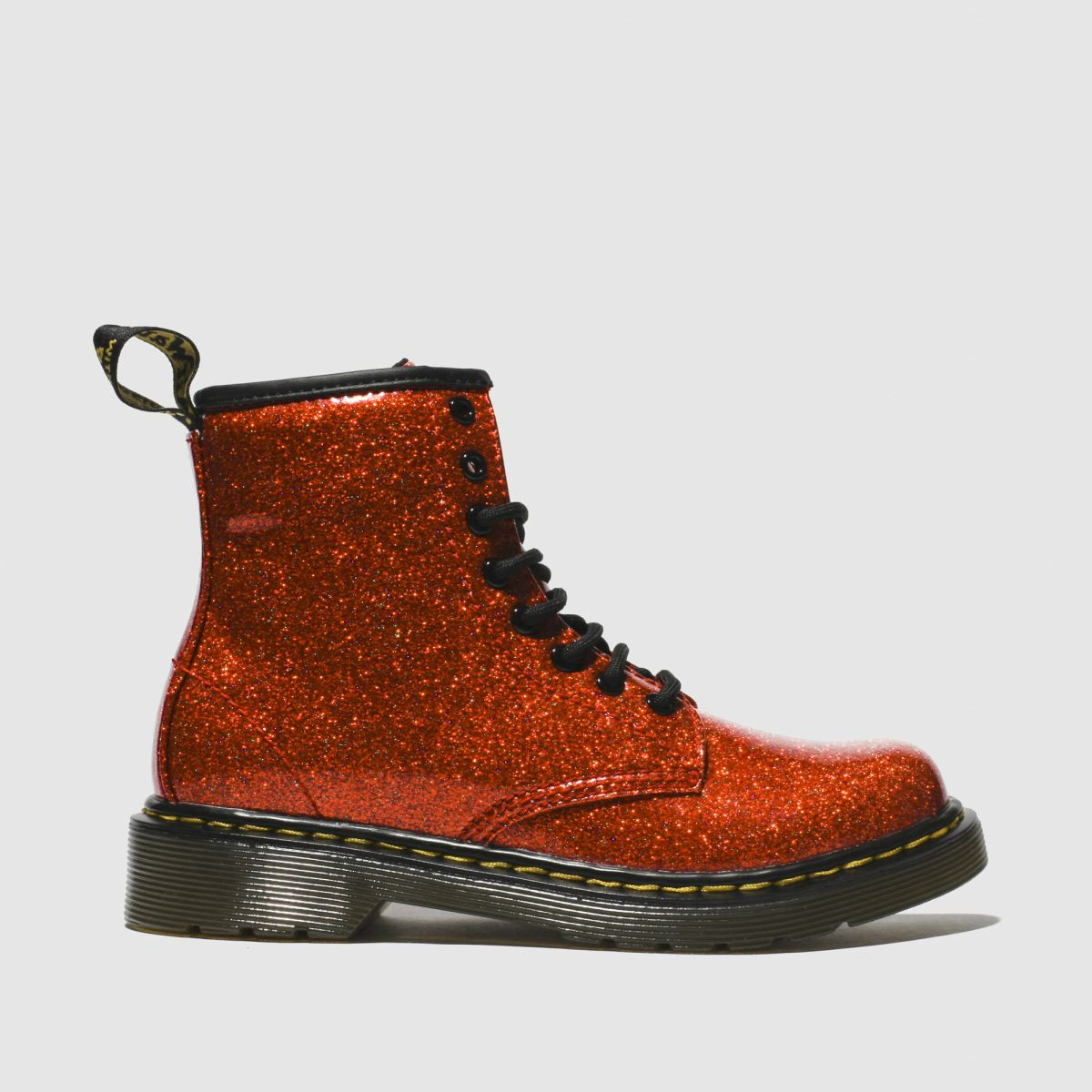 Dr Martens Red 1460 Glitter Boots Junior
