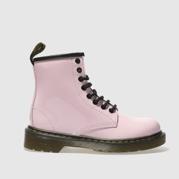 Dr Martens Pink Delaney Lace Girls Junior