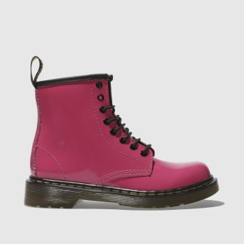 Girls Dr Martens Pink Delaney Boot Patent Girls Junior
