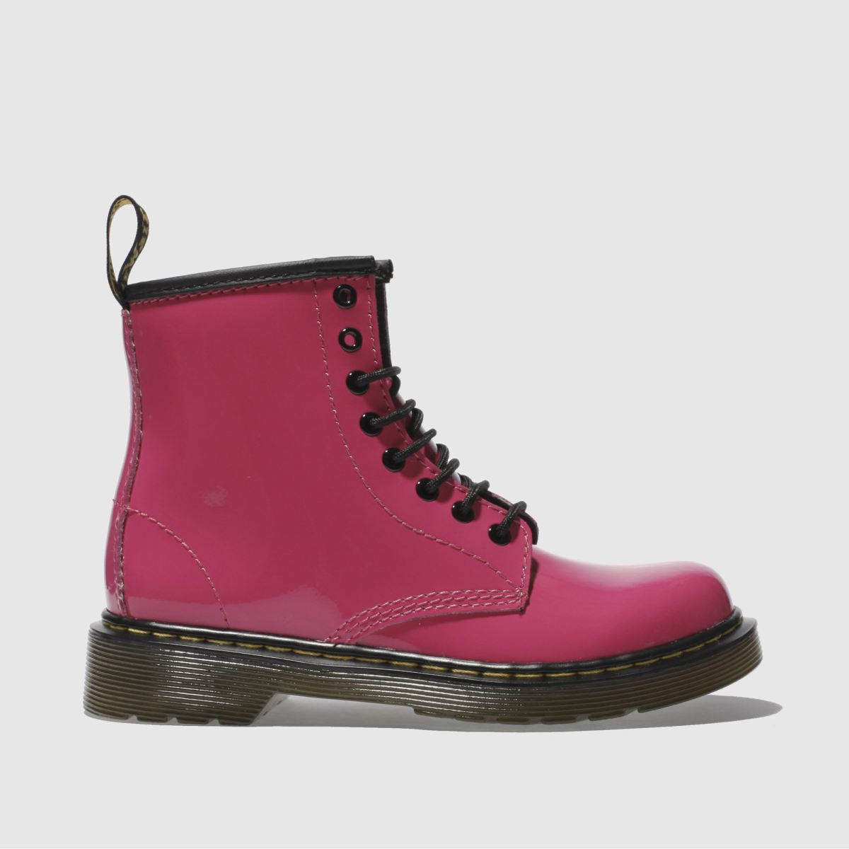 dr martens pink delaney patent Girls Junior Boots