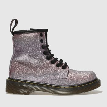 Dr Martens Pink DELANEY GLITTER BOOT Girls Junior