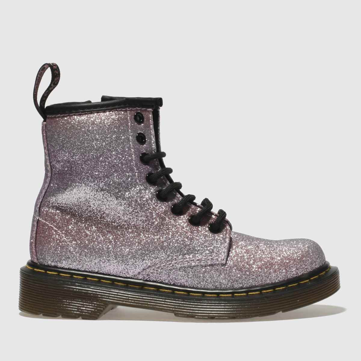 dr martens pink delaney glitter boot Girls Junior Boots