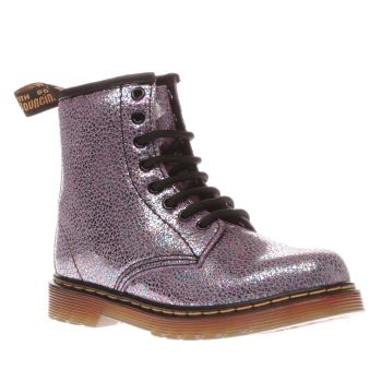 Dr Martens Purple Delaney Sparkle Girls Junior