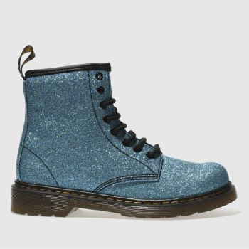 Dr Martens Blue Delaney Glitter Boot Girls Junior