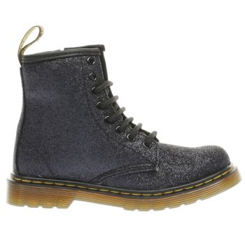 Dr Martens Black Delaney Glitter Boot Girls Junior
