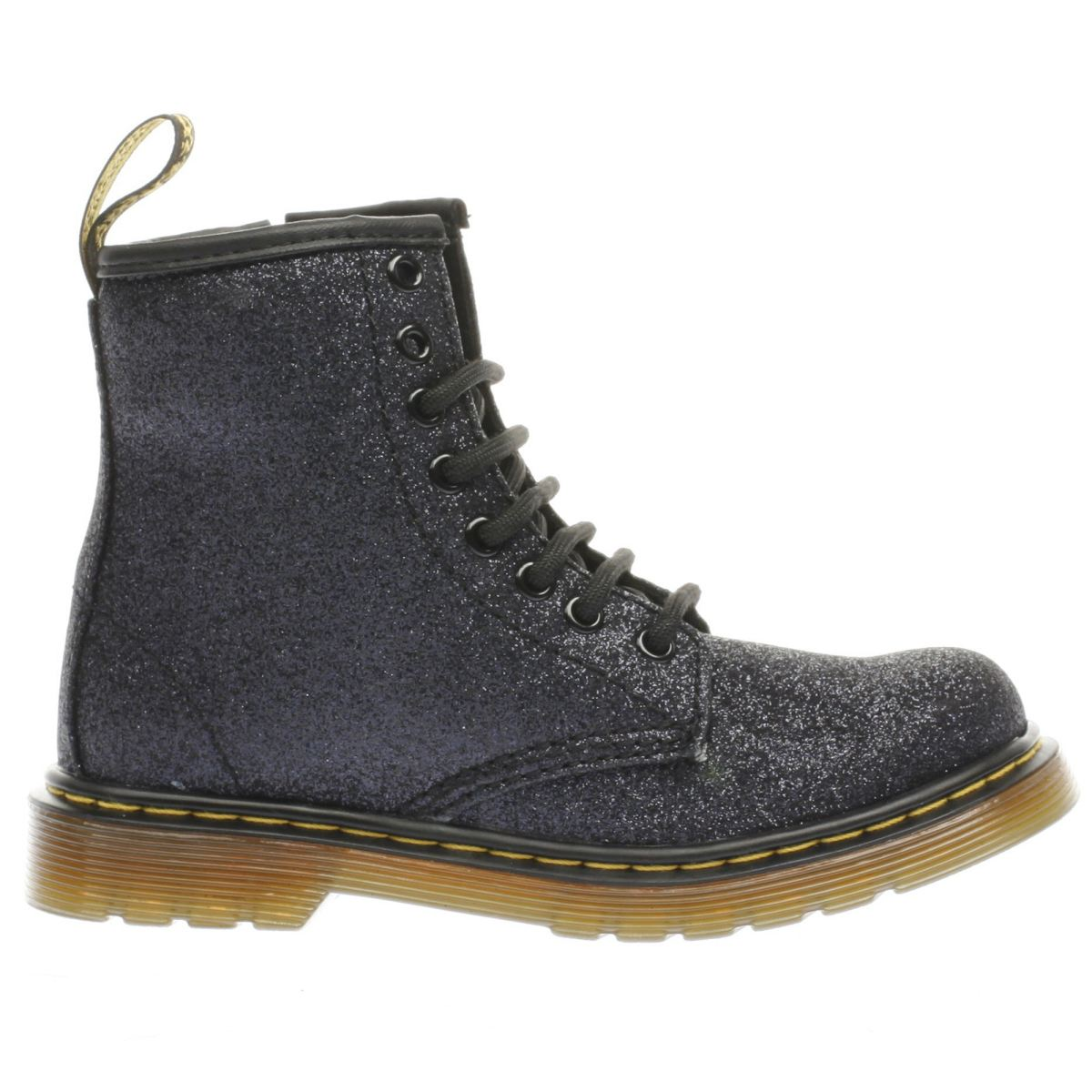 dr martens black delaney glitter boot Girls Junior Boots