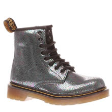 Dr Martens Silver Delaney Sparkle Girls Junior