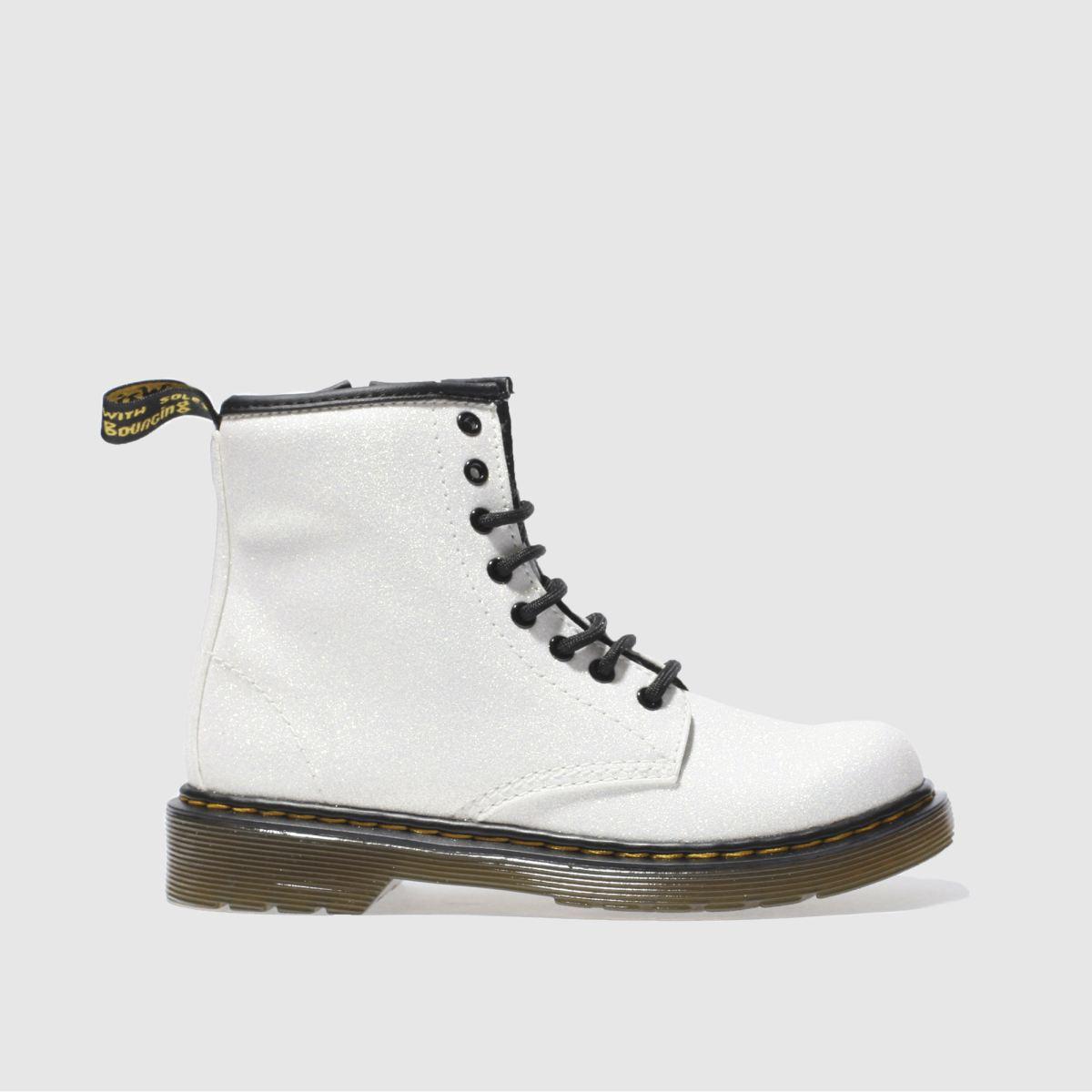Dr Martens White Delaney Glitter Girls Junior Boots