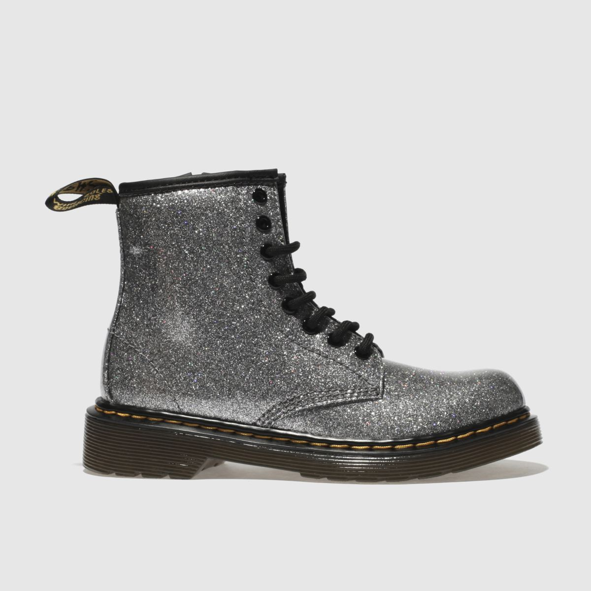 Dr Martens Silver 1460 Glitter Girls Junior Boots
