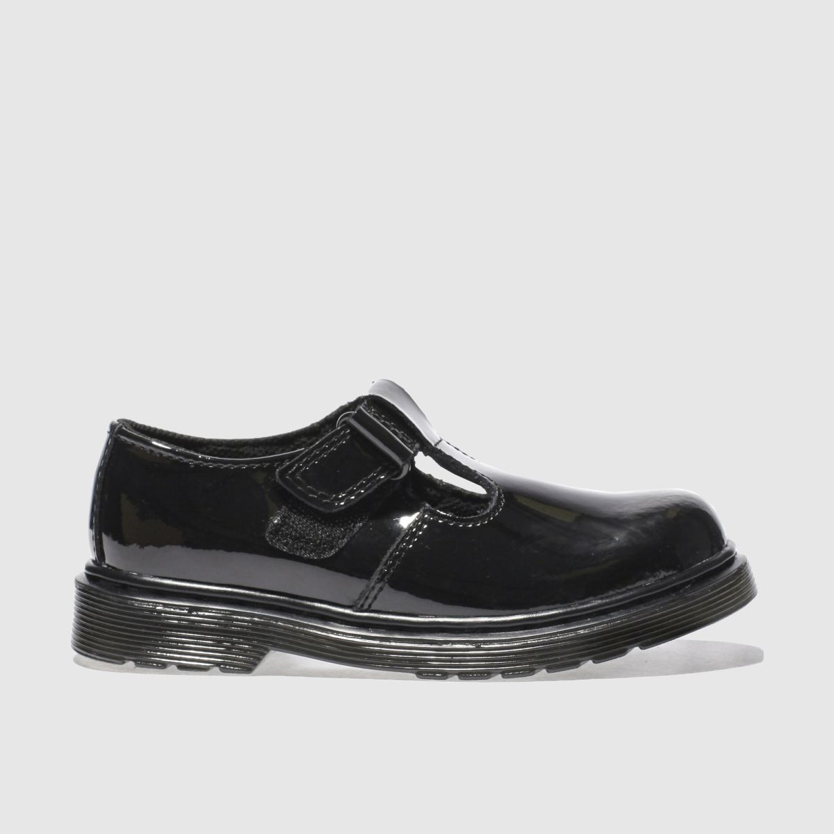 dr martens black goldie t bar Girls Junior Shoes