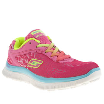 Skechers Pink Skech Appeal Girls Junior