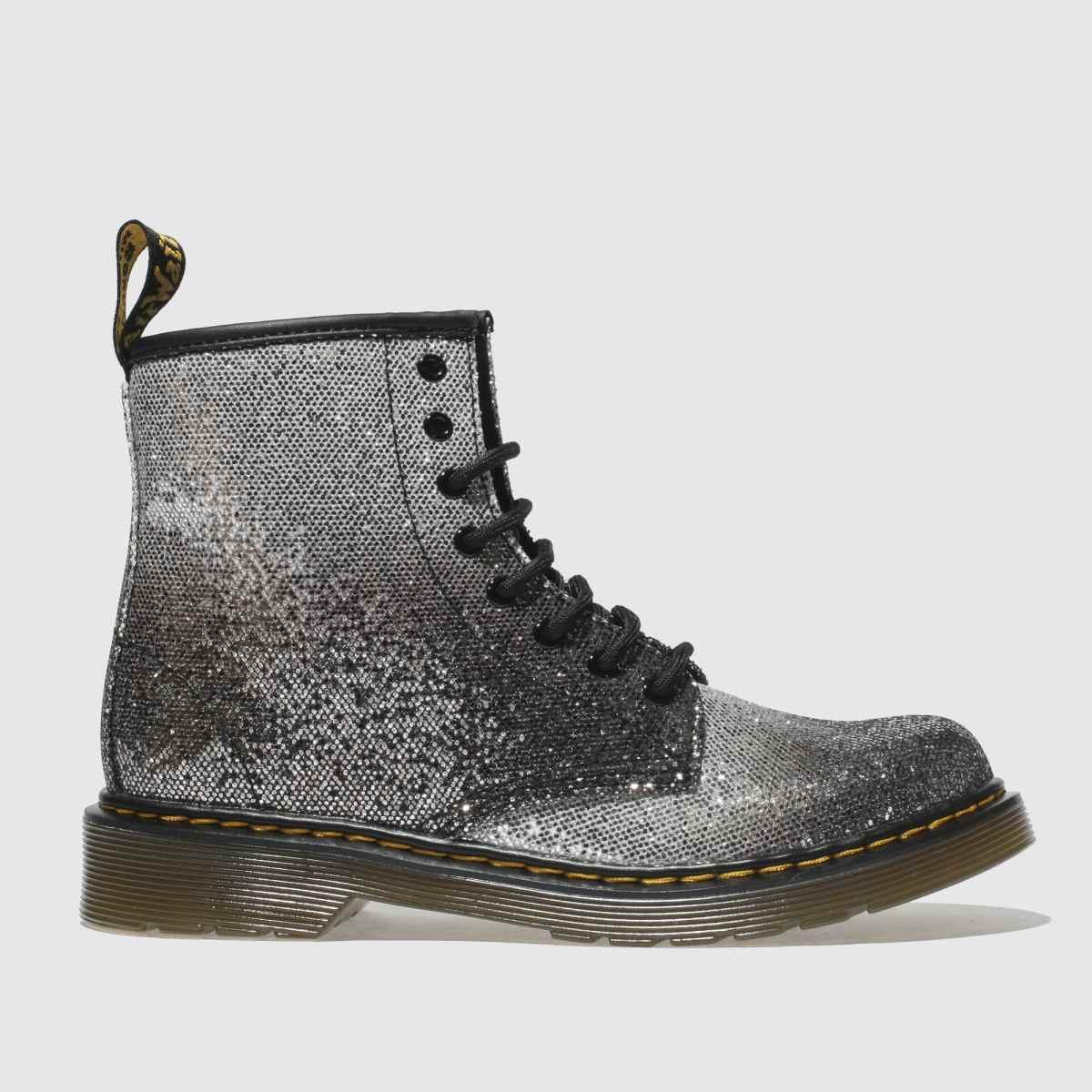 Dr Martens Black & Silver 1460 Glitter Boots Junior