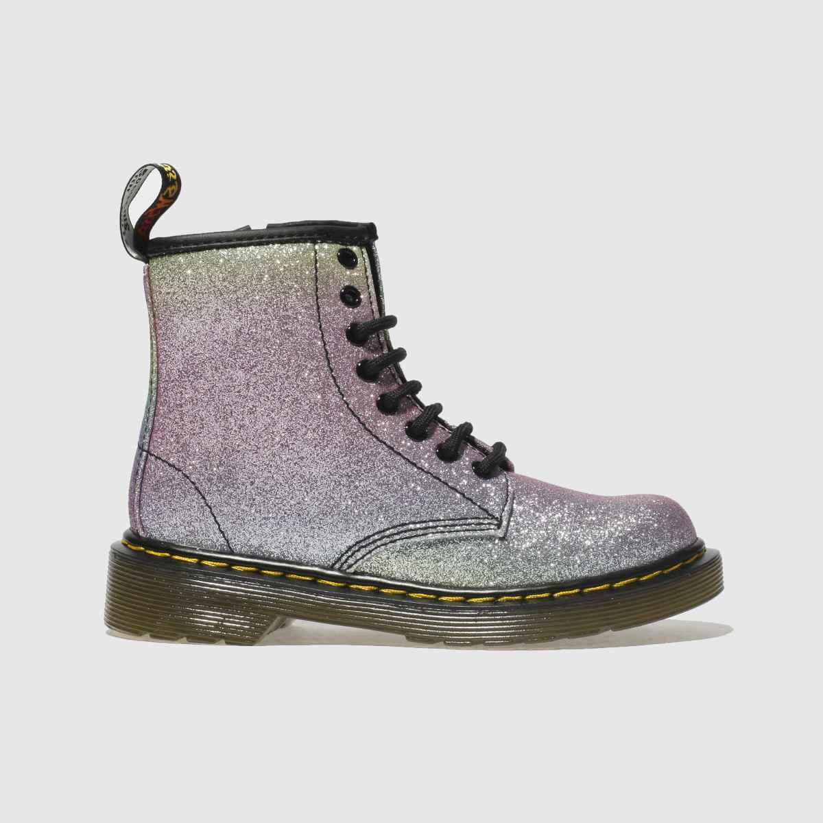 Dr Martens Pink & Lilac 1460 Glitter Boots Junior
