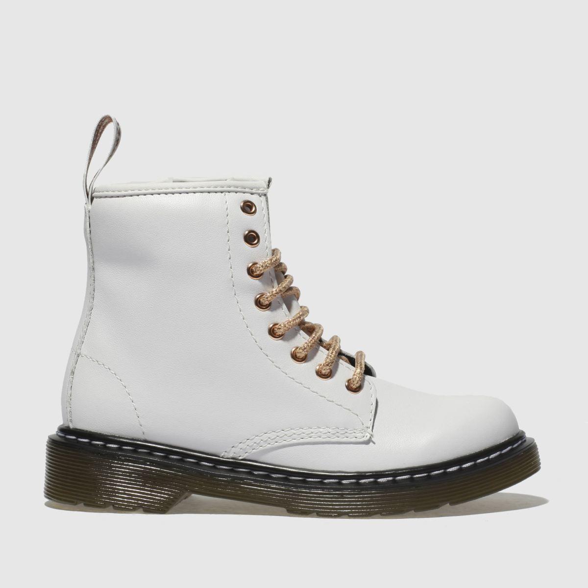 Dr Martens White & Gold 1460 8 Eye Boot Boots Junior