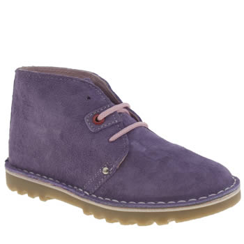Girls Hush Puppies Lilac Si Girls Junior