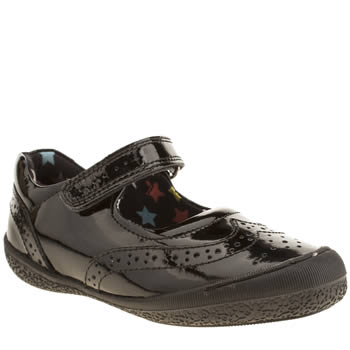 Hush Puppies Black Rina Girls Junior